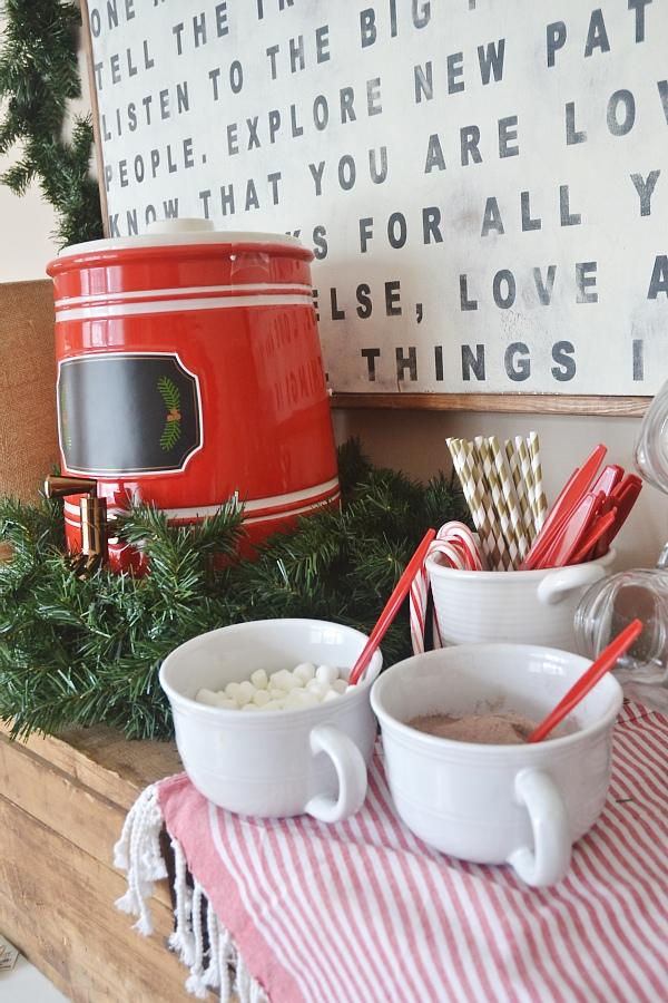 Hot Chocolate Bar, Simple Rustic Hot Chocolate Bar
