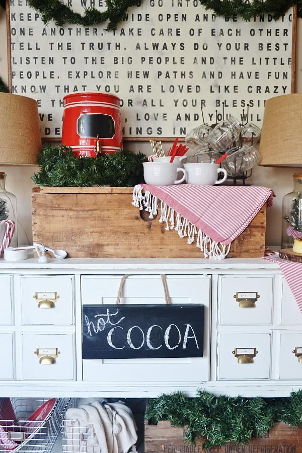 Simple Rustic Hot Chocolate Bar