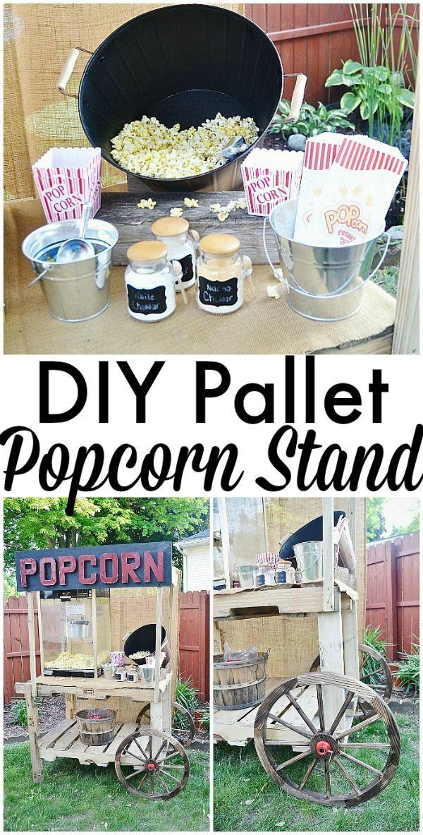 DIY pallet popcorn cart - So simple & easy to make!!