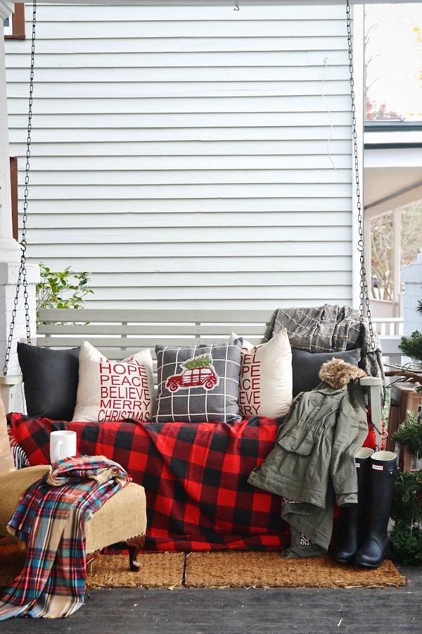 rustic christmas porch, Rustic Christmas Porch