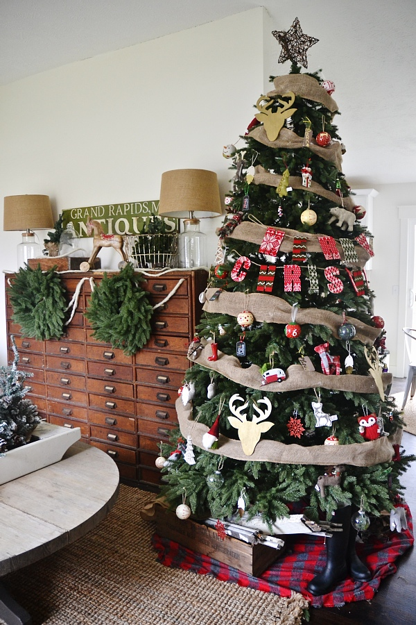 eclectic cottage christmas tree see where to get this realistic looking tree get inspired - Balsam Hills Christmas Trees