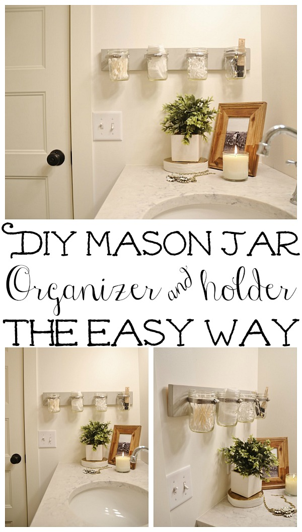 The easiest way to make the mason jar holder - Tips & tricks & frequently asked questions. These are great for bathrooms, craft rooms, kitchens, & so much more! A must pin!