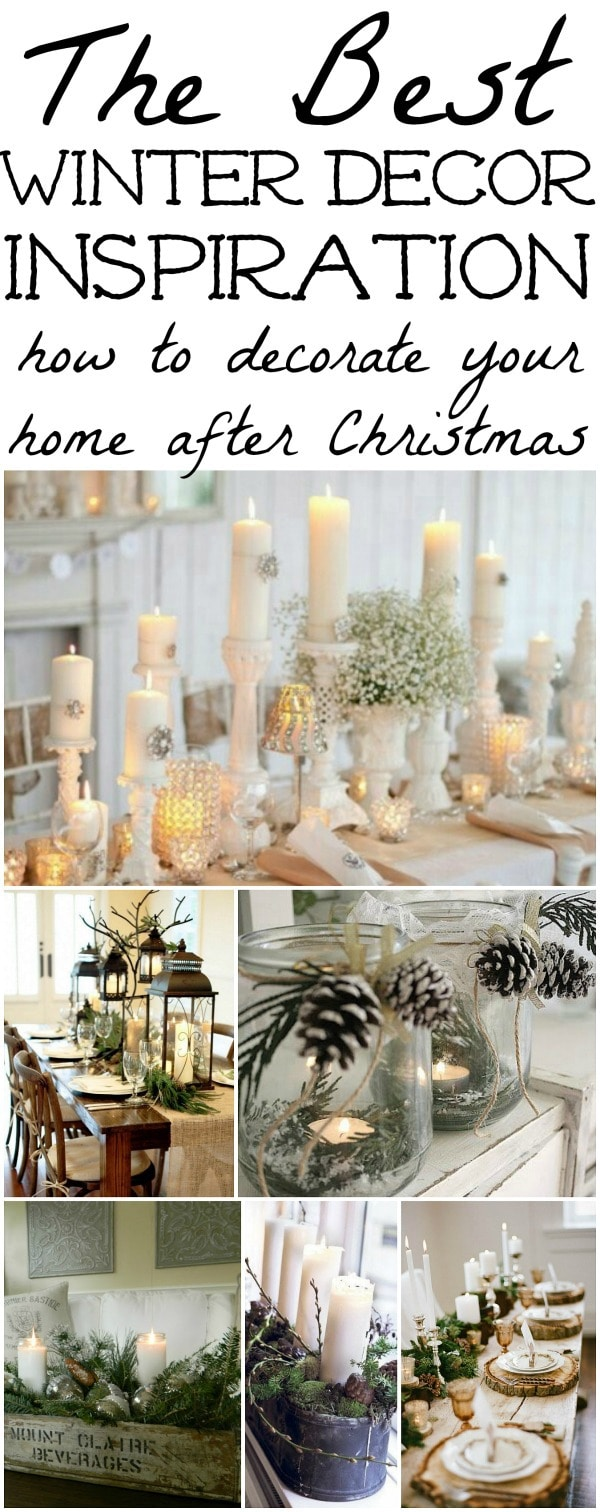 Winter Decorations Winter Table Ideas More Liz Marie Blog