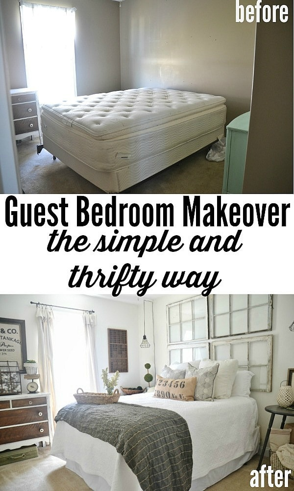 Guest bedroom makeover - On a budget!