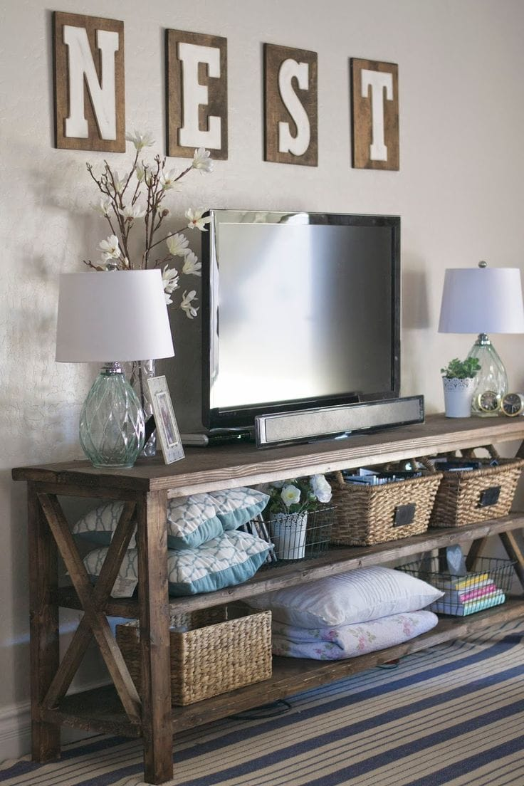 how to decorate around a tv, How To Decorate Around A TV