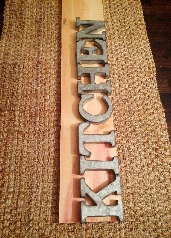 , DIY Metal Letter Industrial Kitchen Sign