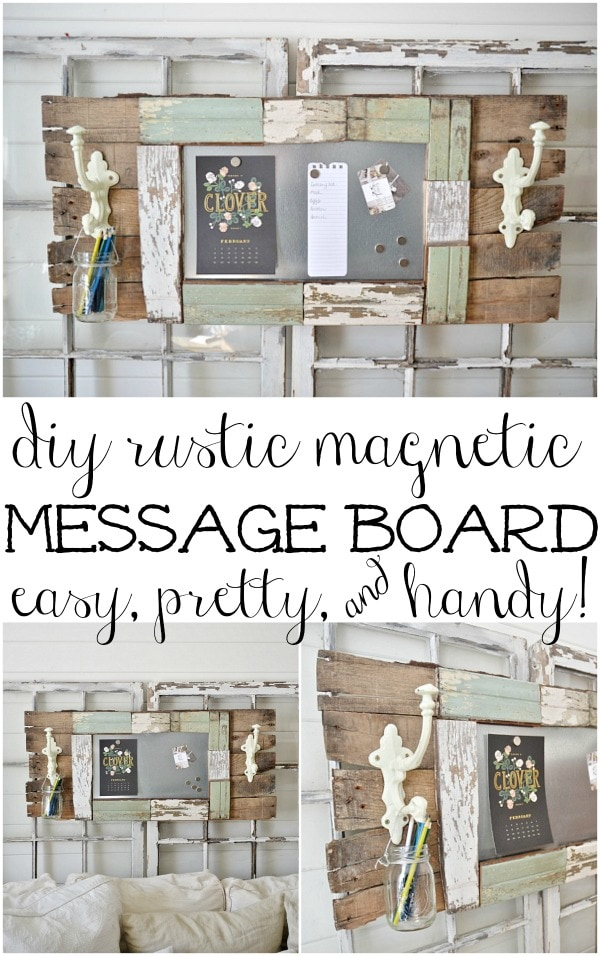 DIY magnetic message board - so handy to have in your home to help keep it organized! show off your kids artwork, grocery lists, meal plans, calendars, & more in style! A simple DIY & a must pin!