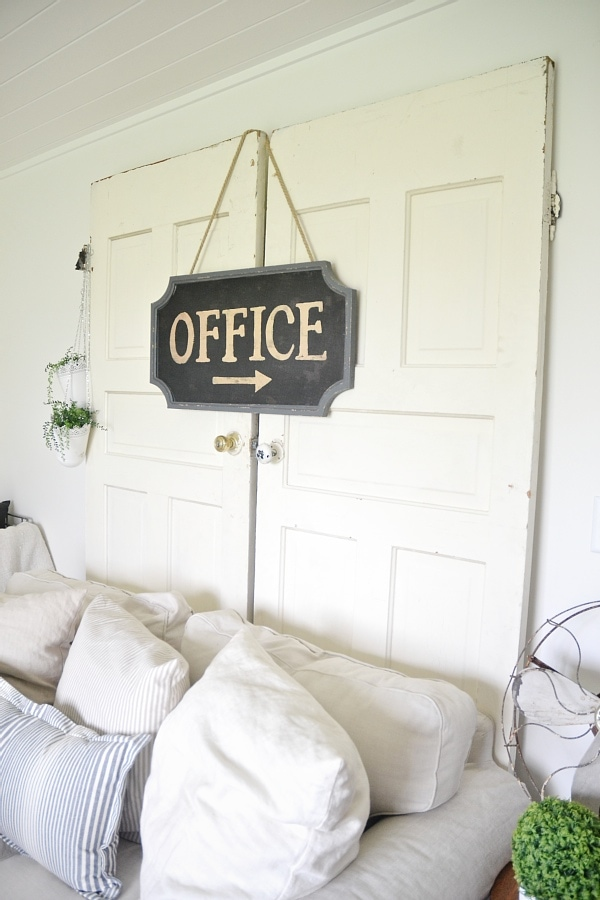 Neutral rustic cottage home decor - New office sign - Living room decor