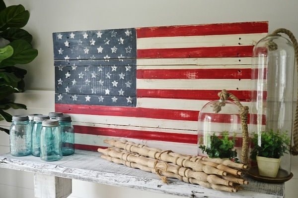 Pallet American Flag, DIY Wood Pallet American Flag