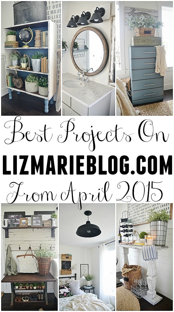 Best projects from April 2015 on Lizmarieblog.com with all links to the original posts. A must pin for some lovely project inspiration & tutorials!