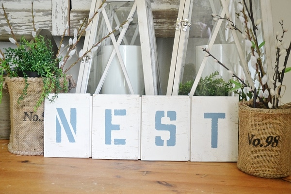 """DIY easy """"nest sign"""" - could be customized to say anything!"""