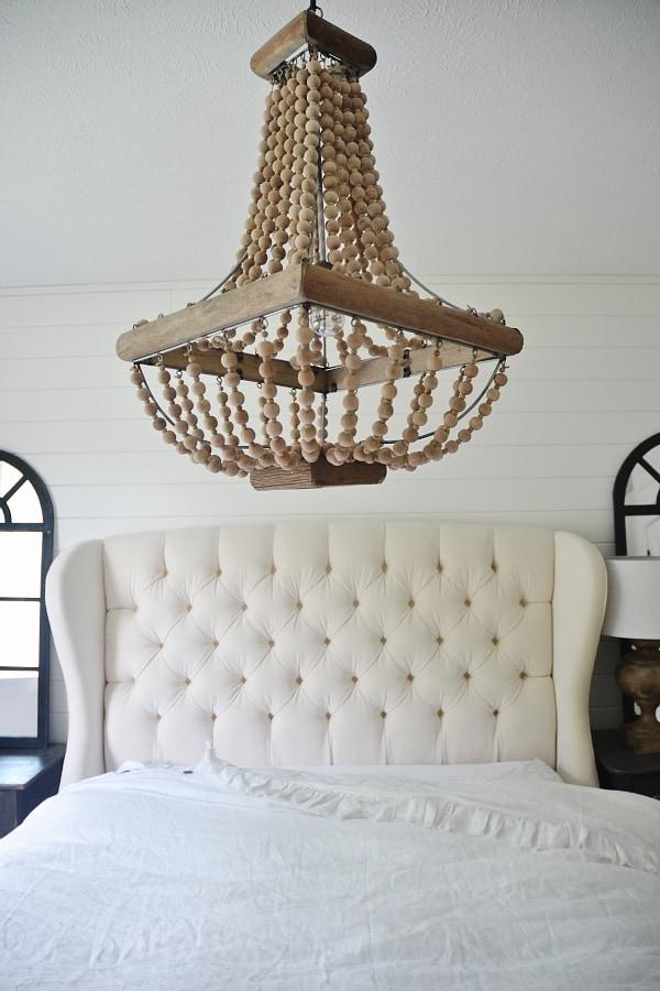 Master Bedroom Makeover - Chandelier - Liz Marie Blog