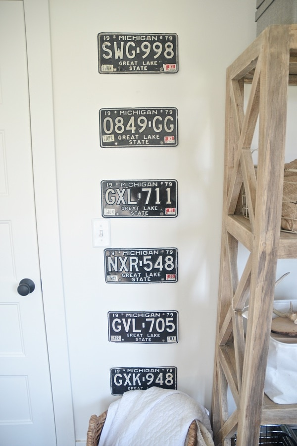 License Plate Gallery, Vintage License Plate Gallery Wall