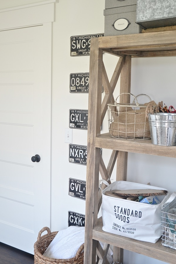 DIY License Plate Gallery Wall - Office Updates