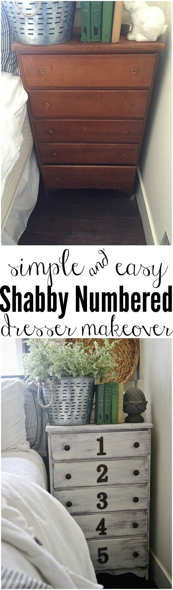 Simple shabby dresser makeover - A how to get this look.