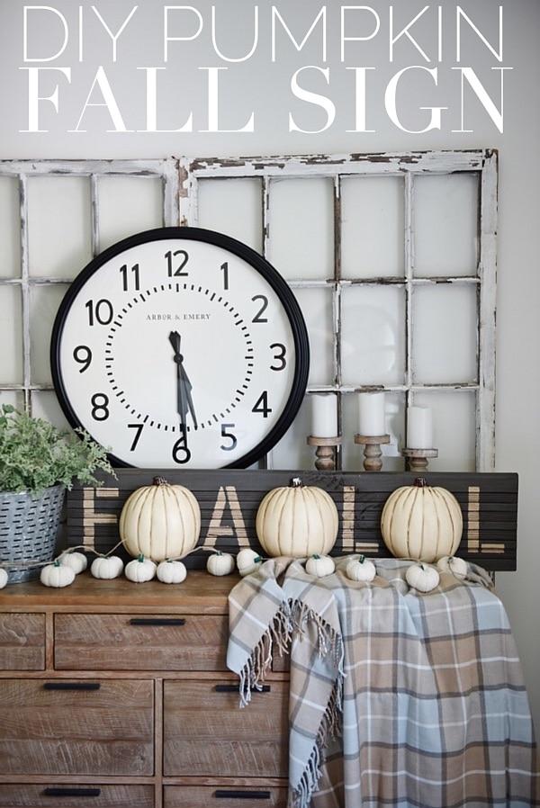 DIY Fall Pumpkin Sign, DIY Fall Pumpkin Sign