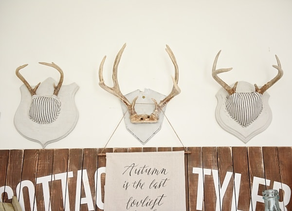 Fabric Covered Antlers, DIY Fabric Covered Antlers