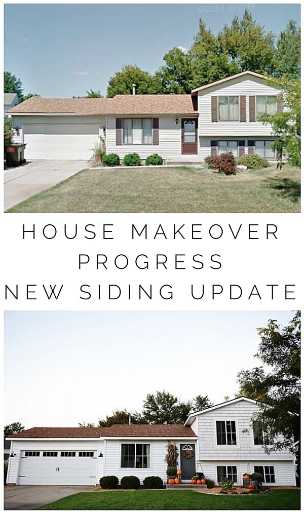 Updating a 1980's Tri-level - New siding, windows, garage door, & more.