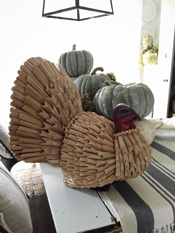 Neutral thanksgiving decor, Turkey Makeover – Neutral Thanksgiving Decor