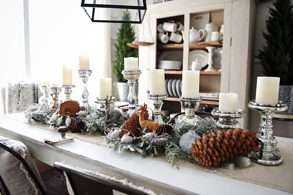 Rustic Winter Woodland dining room, Rustic Winter Woodland Dining Room