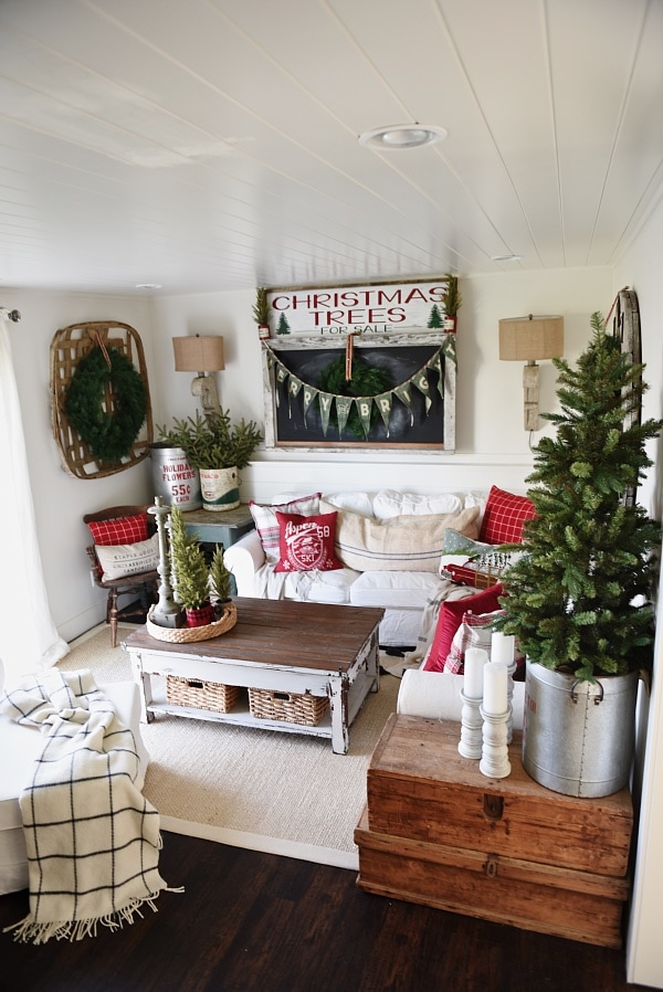 Cozy Rustic Christmas Cottage Living Room Liz Marie Blog