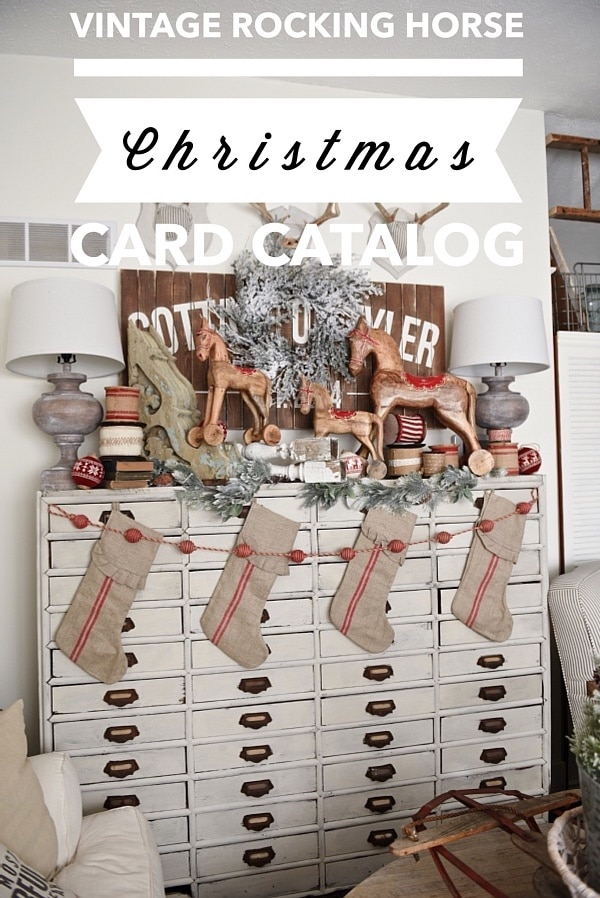 , Vintage Rocking Horse Christmas Card Catalog