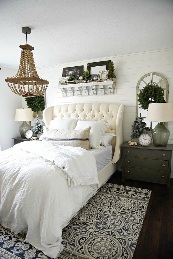 Simple Cottage Christmas Bedroom Liz Marie Blog
