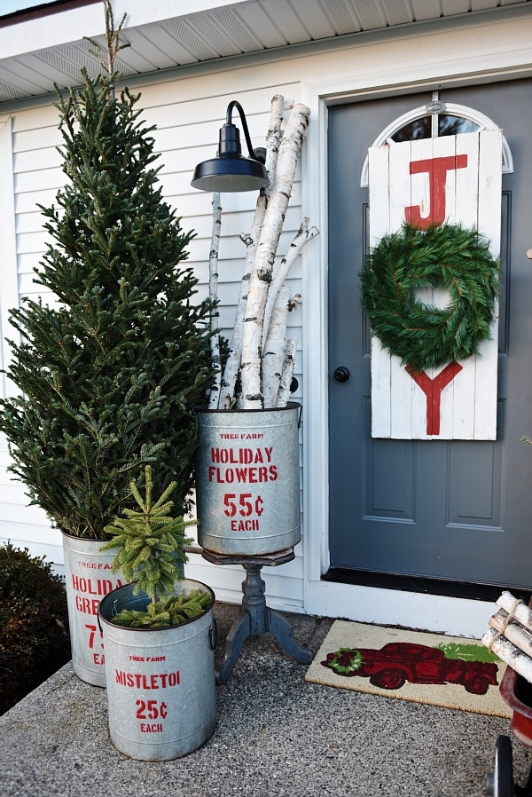 Rustic Christmas Porch, Rustic Christmas Porch