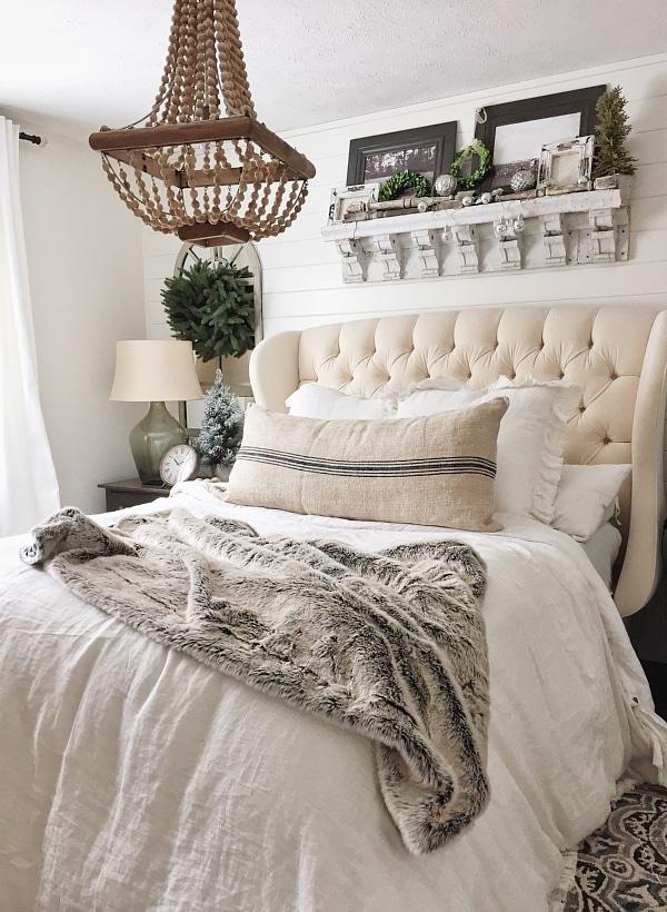 cozy neutral winter bedroom