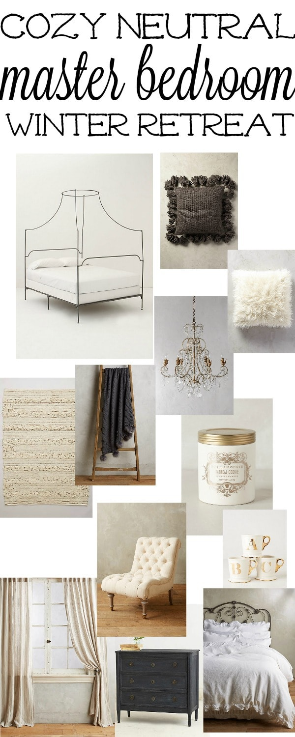 Cozy Neutral Master Bedroom design = shop this blog post to create a cozy retreat in your home for all year round.