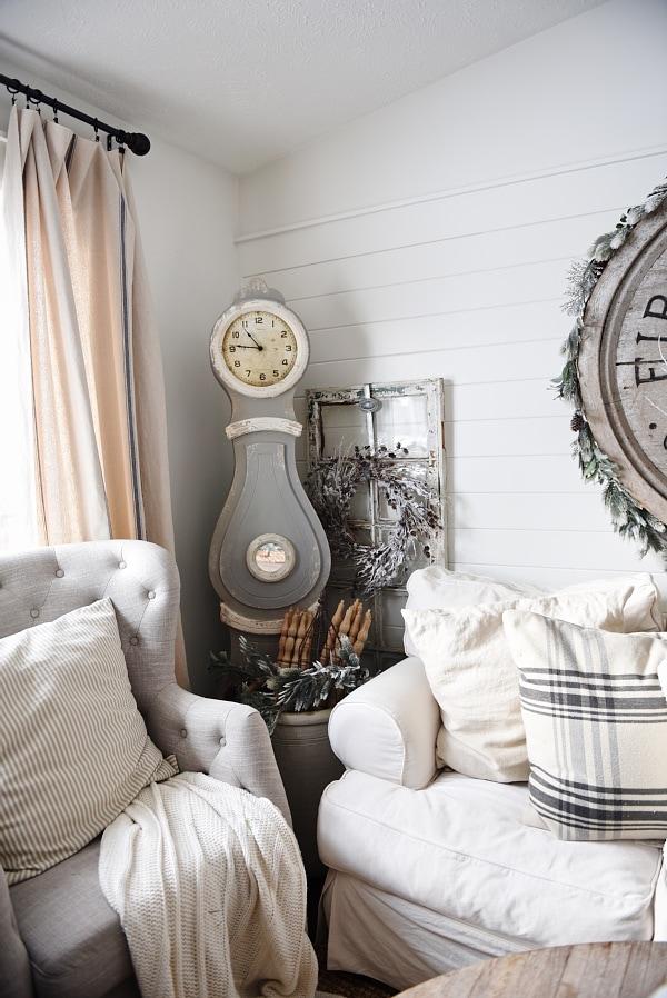 Rustic winter living room, Cozy Rustic Winter Living Room