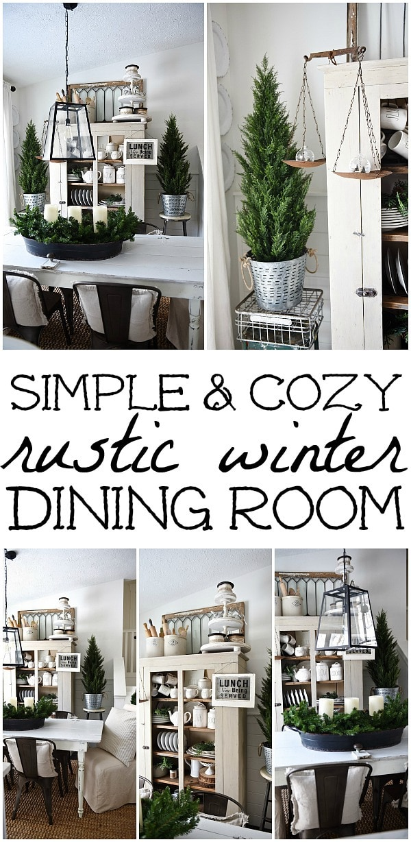 Simply Cozy Winter Dining Room