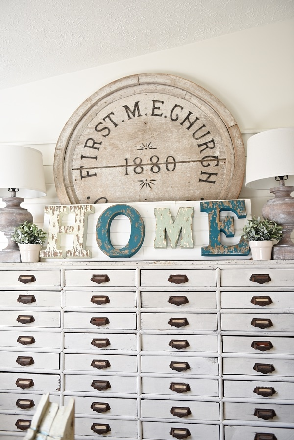 DIY Rustic Metal Letter Signs