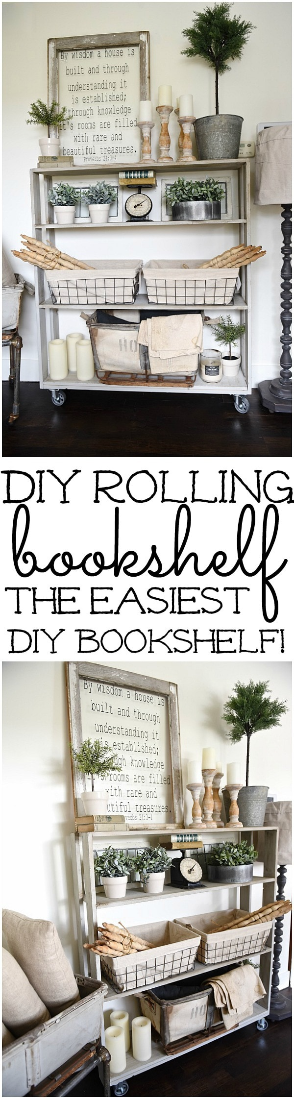 Diy Rolling Bookshelf Liz Marie Blog