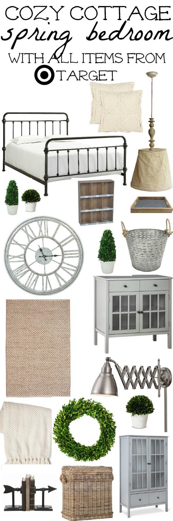 Cozy Cottage Spring Bedroom Design