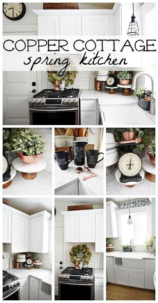 Spring kitchen with copper details - a cozy cottage kitchen