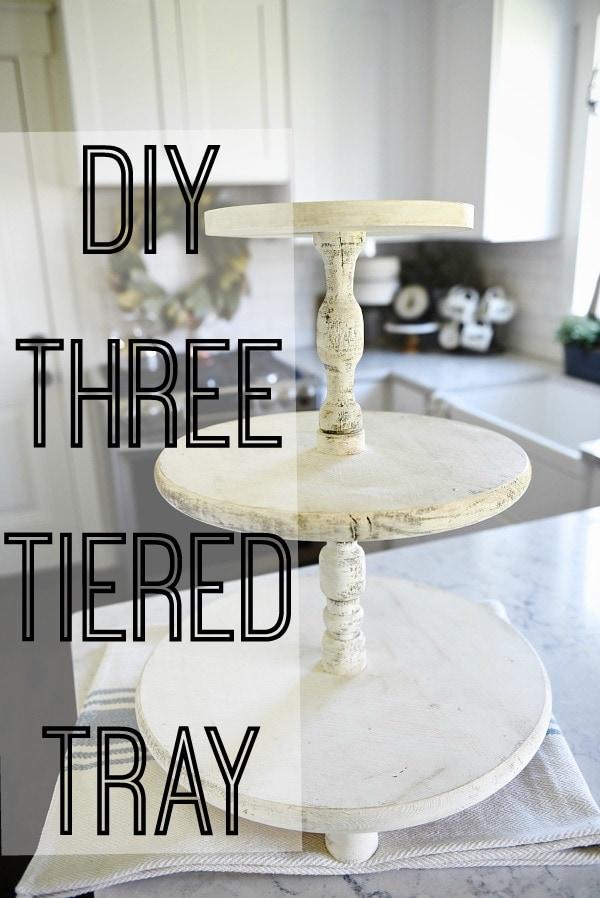 DIY three tiered tray, DIY Three Tiered Tray