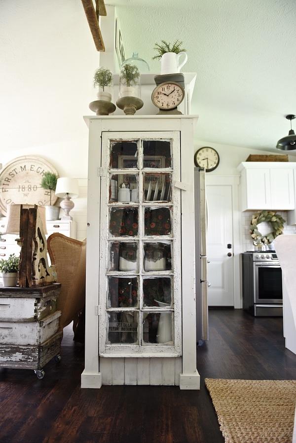DIY Window Kitchen Cabinet