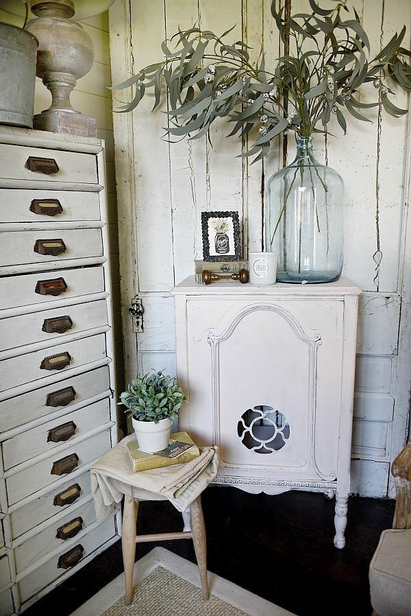 Magnolia Home Antique Rose Bookshelf Makeover