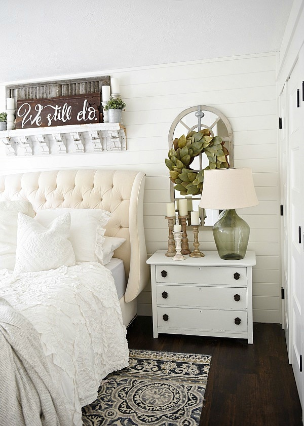 One Horn White Nightstand Makeover Liz Marie Blog