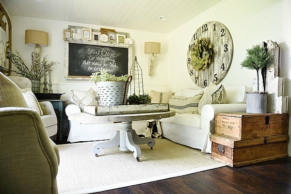 living room makeover, Downstairs Living Room Makeover – Before & After