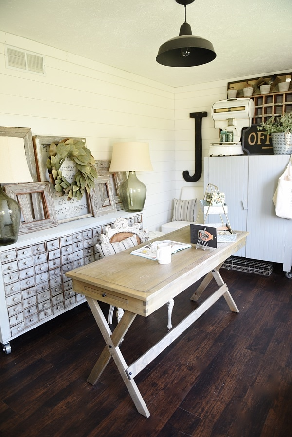 Farmhouse Style Office Makeover Liz Marie Blog