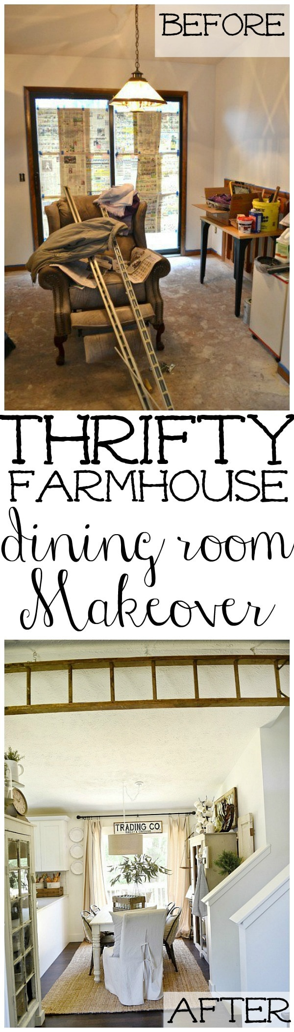 Farmhouse dining room, Farmhouse Dining Room Makeover