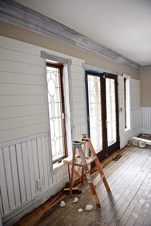 Dining Room Makeover – Shiplap Going Up