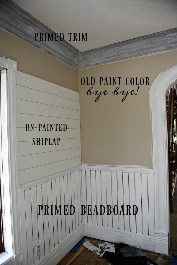 shiplap, Dining Room Makeover – Shiplap Going Up