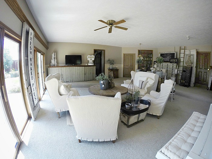 , The Old Garage Living Room Before – Video Tour