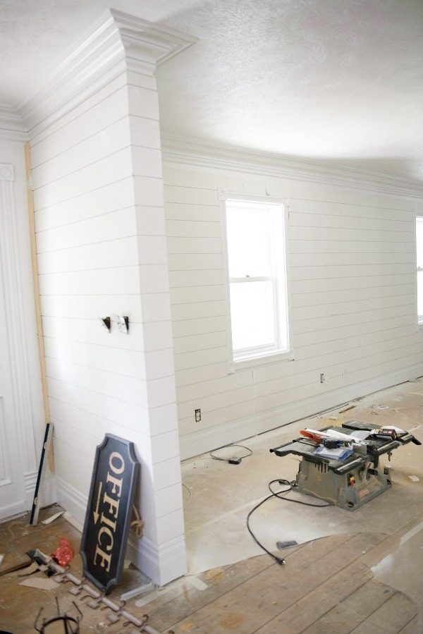 Shiplap In The Front Living Room