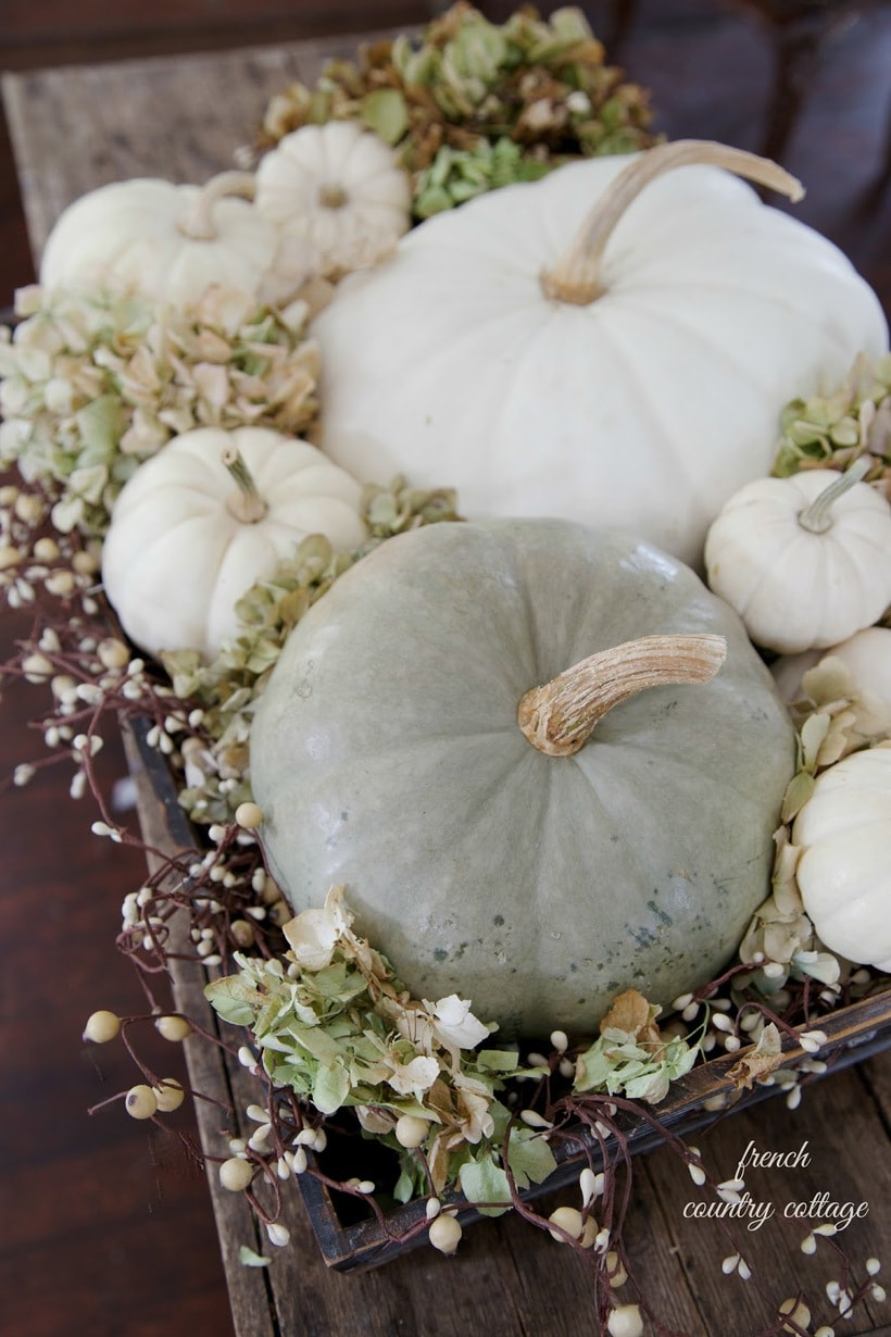 , How To Decorate With White Pumpkins