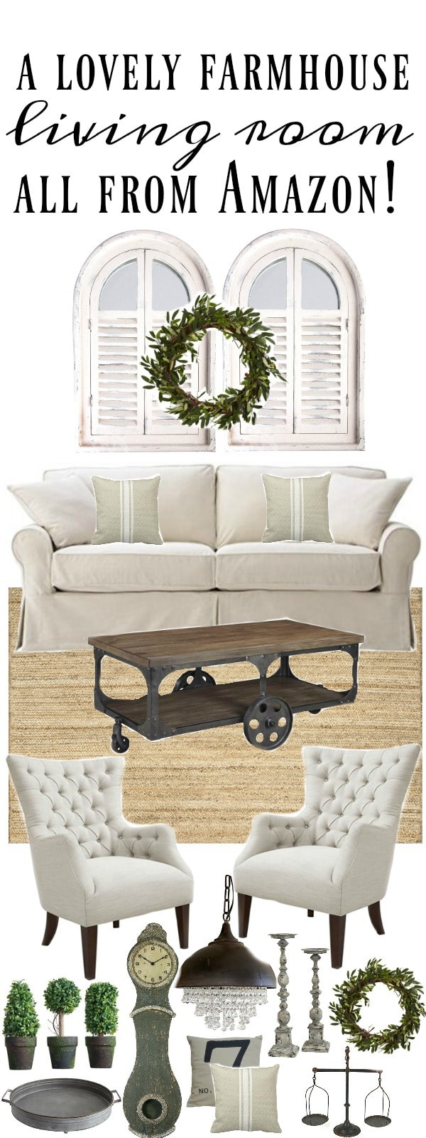 , Farmhouse Living Room All From Amazon