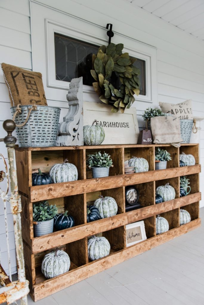DIY nesting boxes - A great farmhouse style piece of furniture that is super easy to make! A great storage piece or a styling piece any room inside and outside. A great pin for farmhouse decor inspiration!